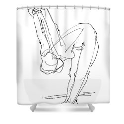 Nude Female Drawings 10 Shower Curtain