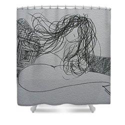 Nude I Shower Curtain
