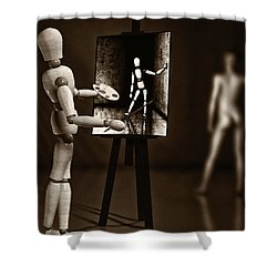 Nude Model  Shower Curtain by Bob Orsillo