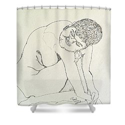 Nude With Earring Shower Curtain