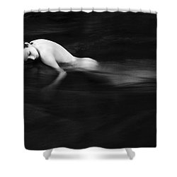 Nude Woman In River Shower Curtain by Monica and Michael Sweet - Printscapes