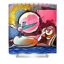 Nude Woman On Beach 4 Shower Curtain