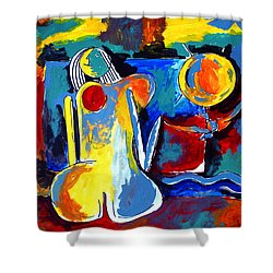 Nude Woman On Beach 6 Shower Curtain