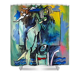 Nude Women On Beach Shower Curtain
