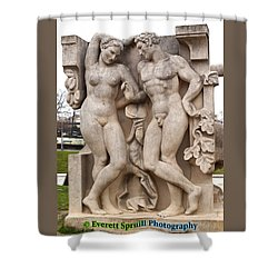 Nudes At Trocadero Gardens - Paris France Shower Curtain