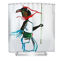 Nuer Dance - South Sudan Shower Curtain by Gloria Ssali