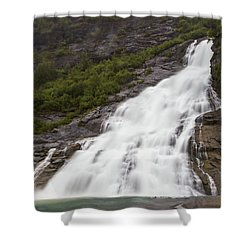 Shower Curtain featuring the photograph Nugget Falls, Alaska by Ed Clark