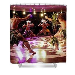 Nuku Hiva Dancers Shower Curtain