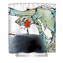 Number 17 Longhorn Steer Shower Curtain