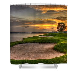 Shower Curtain featuring the photograph Number 4 Sunset Traps Reynolds Plantation by Reid Callaway