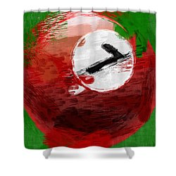 Number Seven Billiards Ball Abstract Shower Curtain by David G Paul