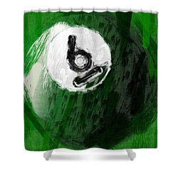 Number Six Billiards Ball Abstract Shower Curtain by David G Paul
