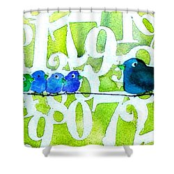 Numbirds Counting Lesson Shower Curtain