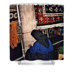 Nun Knotting Carpet Shower Curtain by Sarah Loft