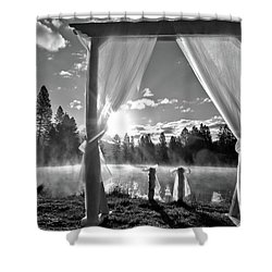 Shower Curtain featuring the photograph Nuptials by Julia Hassett