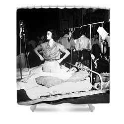 Nurse Adjusts Glucose Injection Shower Curtain by Stocktrek Images
