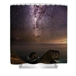 Nusa Penida Beach At Night Shower Curtain