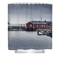 Nusfjord Rorbu Shower Curtain