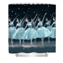 Nutcracker Ballet Waltz Of The Snowflakes Shower Curtain