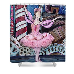 Nutcracker Sugar Plum Fairy Shower Curtain