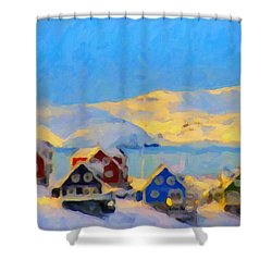Nuuk, Greenland Shower Curtain by Chris Armytage