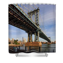 Shower Curtain featuring the photograph Ny Steel by Anthony Fields