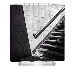 Ny Subway Stairs Shower Curtain