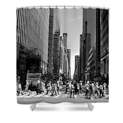Nyc 42nd Street Crosswalk Shower Curtain by Matt Harang
