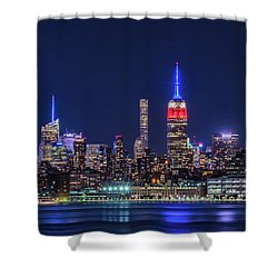 Nyc At The Blue Hour Shower Curtain