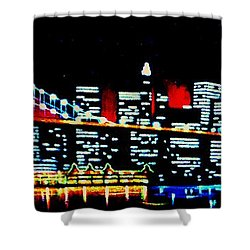 Nyc Black Light Shower Curtain