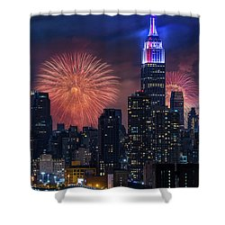 Nyc Fourth Of July Fireworks  Shower Curtain