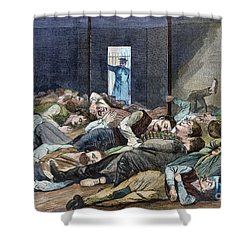 Nyc: Homeless, 1874 Shower Curtain by Granger