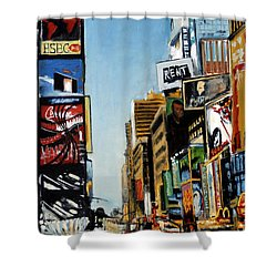 Nyc IIi Cab Dodging Shower Curtain
