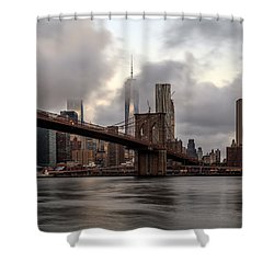Shower Curtain featuring the photograph Nyc In The Am by Anthony Fields