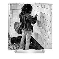 Shower Curtain featuring the photograph Nyc Lunch by Dave Beckerman