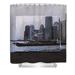 Nyc Pier 11 Layered Shower Curtain by Anita Burgermeister