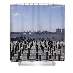 New York City Piers  Shower Curtain