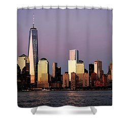 Nyc Skyline At Dusk Shower Curtain by Matt Harang