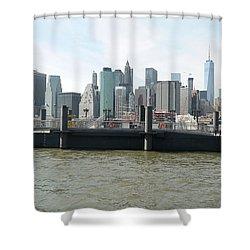 Nyc Skyline Shower Curtain by Michael Paszek