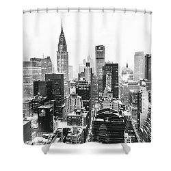 Nyc Snow Shower Curtain