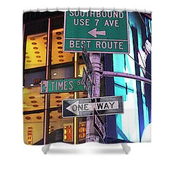 Nyc Street Sign Shower Curtain