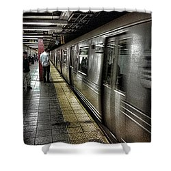 Nyc Subway Shower Curtain by Martin Newman