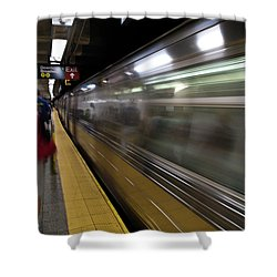 Nyc Subway Shower Curtain by Sebastian Musial