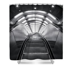 Shower Curtain featuring the photograph Nyc Subway Station by Susan Candelario