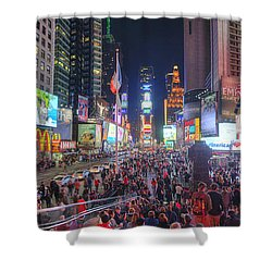 Nyc Times Square Panorama Shower Curtain