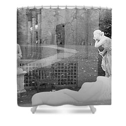 Nyc Whispering Statues Shower Curtain