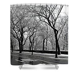 Shower Curtain featuring the photograph Nyc Winter Wonderland by Vannetta Ferguson