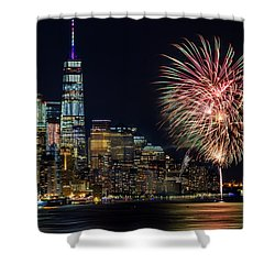Shower Curtain featuring the photograph Nyc World Trade Center Pride by Susan Candelario