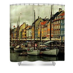 Nyhavn In Copenhagen Shower Curtain