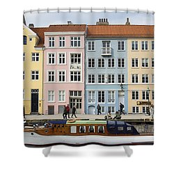 Nyhavn Pastels Shower Curtain